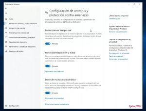 Quitar antivirus Windows 10
