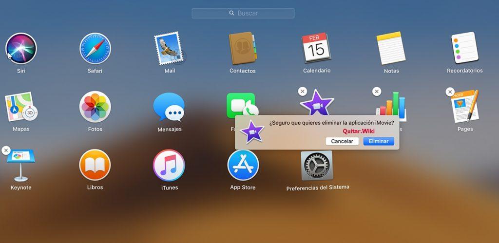 Quitar programas en MAC con Launchpad